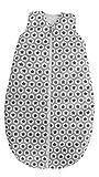 Odenwälder BabyNice Ganzjahres-Schlafsack Hip-Hop / Wattierter Schlafsack ohne Arm / Baby-Schlafsack gefüttert / Kinnschutz für Reissverschluss / 100% Baumwolle / PREMIUM QUALITÄT, Größe:90, Design:Sterne grau