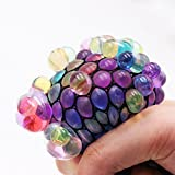 Latest Crystal Mesh Grape Ball 6CM Latex Colorful Anti Stress Relief Ball Stress Autism Mood Relief Hand Wrist Squeeze Toy For Kid / Grapes Anti-stress Squeezing Grape Mesh Ball /Relieve Pressure 1 PC Squishy Relief Toys COLOR RANDOM