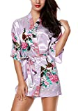 HonourSport Kimono Mujer Japones Vestido Corto Chaqueta Flores Seda Bata Talla Grande Novia Cosplay...