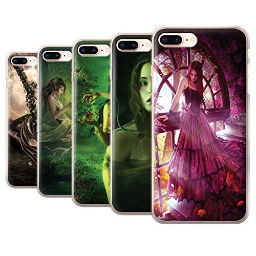 Officiel Elena Dudina Coque / Etui pour Apple iPhone 8 Plus / Reine des Forêts Design / Un avec la Nature Collection Pack 15pcs