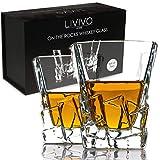 Lot de verres à whisky Luxueux Transparent Solide et de bon poids Carré Style iceberg