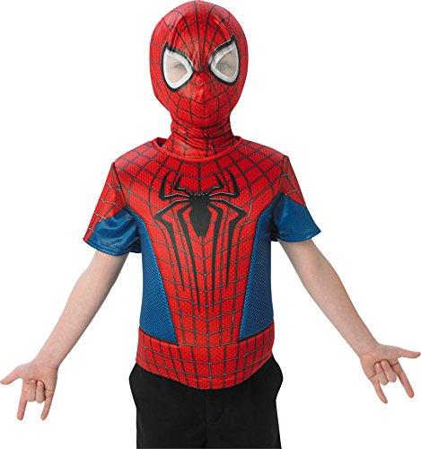 –Brust Teller Amazing Spiderman 2Kostüm und Maske–Standard Größe (The Amazing Spider Man Kostüm)