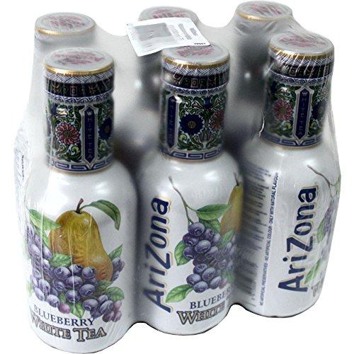 Arizona Ice Tea Blueberry White 6 x 0,5l PET-Flasche (weißer Eistee Blaubeere) (Honig Arizona)
