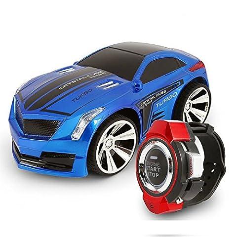 Commande vocale, voiture, megadream Smart Watch Contrôle vocal 2.4G Fréquence rechargeable Creative RC voiture avec freins à froid et éclatantes Phare avant avec Voix Sur on/off pour enfants étudiants Jouets Gifts
