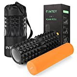 INTEY Faszienrolle Set 2 in 1 Foam Roller Gymnastikrolle für Triggerpunkt-Massage