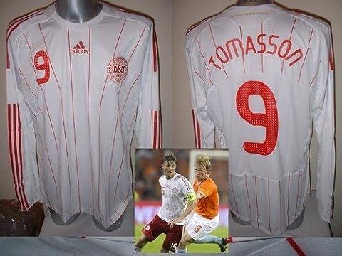 Dänemark Dänisch Adidas Formotion Erwachsene XL BNWT Tomasson Shirt Jersey Fußball L/S LONG Seeve Feyenoord, AC Mailand, Stuttgart, Newcastle