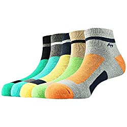 Arrow Mens Sport Ankle Length Soft Combed Cotton Socks Pack of 5 Pair