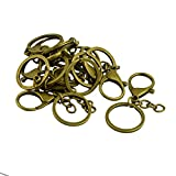 #8: Segolike 10 Sets Large Lobster Clasp Trigger Clip Key Ring With Split Ring and Chains