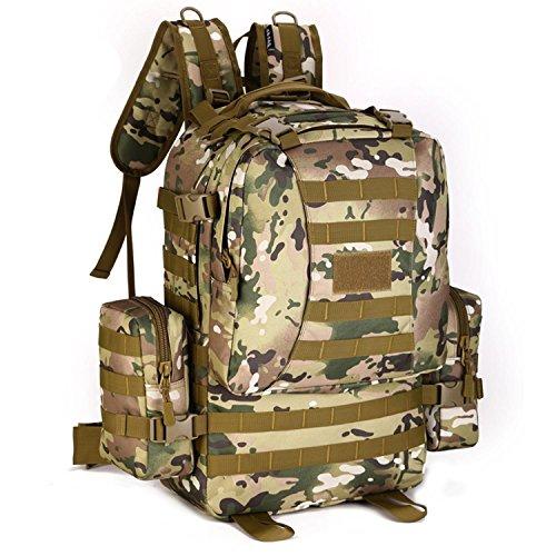 Protector Plus 50 Liter Rucksack Taktischer Rucksack Militär Rucksack Tasche für Jagd Schießen Camping Wandern Trekking Reisen E
