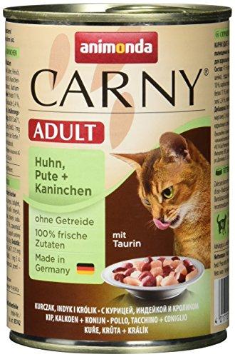 animonda Carny Adult Katzenfutter, Nassfutter für erwachsene Katzen, Huhn, Pute