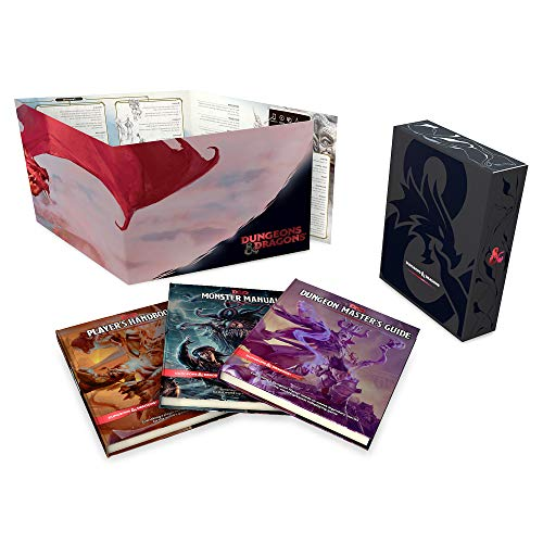 Dungeons & Dragons Core Rulebooks Gift Set (Special Foil Covers Edition with Slipcase, Player's Handbook, Dungeon Master's Guide, Monster Manual, DM S por Wizards Rpg Team