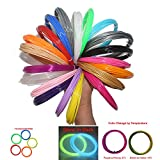 CCTREE 3D Printer Pen Refill Filament ABS 1.75mm Pack, 20 Feet Per Color With 24 Colors Including Glow in the Dark & Color Changing & Fluorescence Color