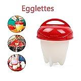 Energystation Silikon Egg Cooker, Antihaft Eier Kochen, BPA Frei Egglettes, 6 pcs Eggies Eierkocher Schnelle und Einfache, Ohne Schale Wie IM TV Gesehen (Rot)