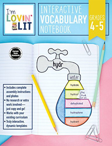 I'm Lovin' Lit Interactive Vocabulary Notebook, Grades 4 - 5: Greek and Latin Roots and Affixes