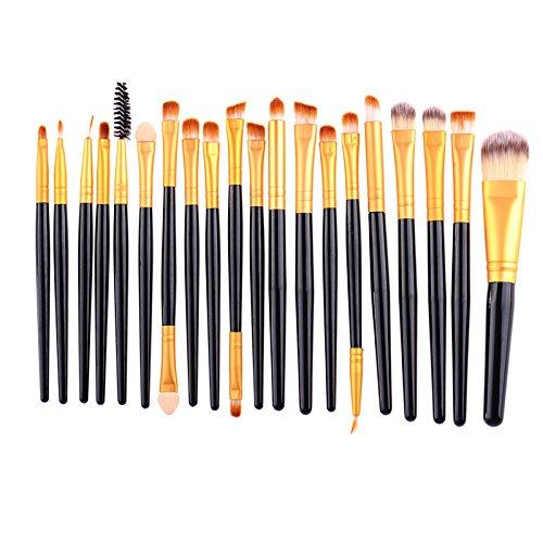 LianLe®20 pcs Pinceaux à Maquillage Make Up Tool Set Professionnelle