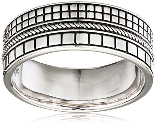 caï men Herren-Ring 925 Silber rhodiniert schwarz lackiert 66 (21.0) C4238R/90/00/66
