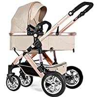 Jogging, Lightweight Umbrella Stroller, Foldable Anti-shock High View Carriage,Baby Travel System Pram For All Terrain City, Compact Pushchair With Durable Construction