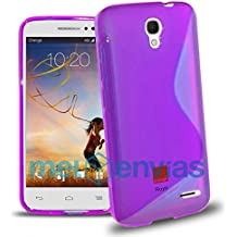 Funda para ORANGE ROYA GEL TPU Diseño S-Line Color MORADO