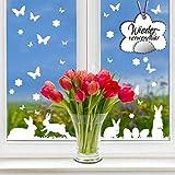Fensteraufkleber Vier Hasen