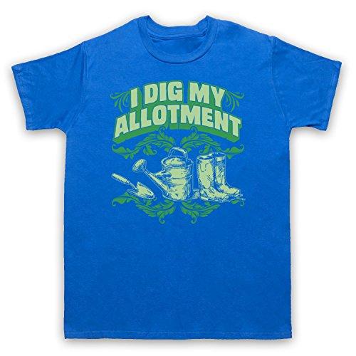 I Dig My Allotment Gardening Slogan Herren T-Shirt Blau