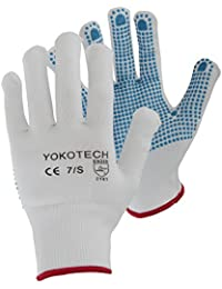 Yoko - Gants antidérapants (bleu) - unisexe