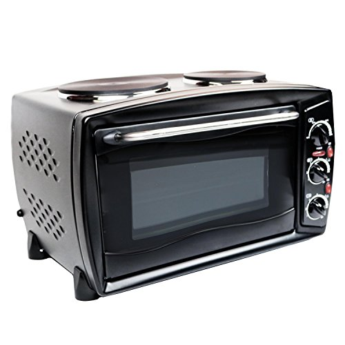 51KOr1eeSyL. SS500  - Oypla 26 Litre Electrical Mini Compact Oven Kitchen Mate c/w 2 Hot Plates And Grill