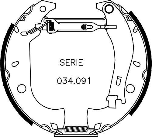 metelligroup 51-0155 Rapidkit, Kit Composto da 2 Pezzi di Ganasce Freno Premonatate, Made in Italy, Pezzo di Ricambio per Auto/Automobile, Montaggio Facile, Veloce e Sicuro