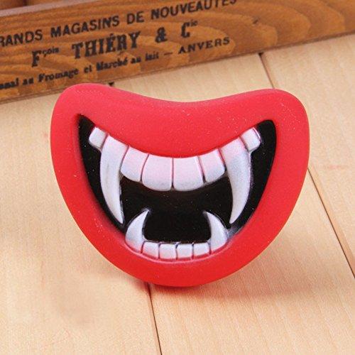 n Stick Gummi Ball Chew Treat Haustier Hund Welpen Doggy Training Spielzeug Halloween Teeth Maske ()