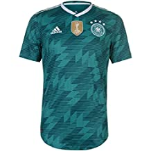 Adidas DFB Away Jersey Authentic 2018 Camiseta, Hombre, BR3143, EQT Green s16/