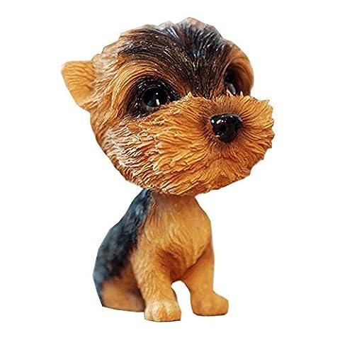 [Yorkshire Terrier] Bobbleheads Car Ornaments Resin Car Decoration,4.7x2.3''