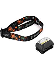 XCSOURCE Super Brillant COB LEDs Lampe Frontale Sports de plein air Phare Casque Bandeau Réglable (Noir) LD748