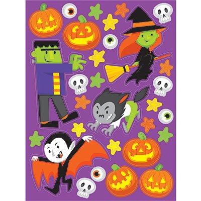 ufklebern für Gastgeschenktüten und Einladungen (Halloween Frankenstein Snacks)