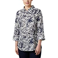 Columbia Summer Ease Camisa Ancha, Mujer, Nocturnal Wispy Bamboo Print, S