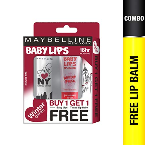 Maybelline New York Winter Promo, Highline Wine, 04g with Free Strawberry Crush, 9ml