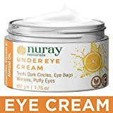 Nuray Naturals Vegan Eye Cream for Dark Circles, Under Eyes, Eye Bags