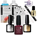 Official CND Shellac Starter Kit - Tinted Love Farbe Starter-Set - Top & Base Coat + Essentials