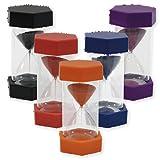 TimeTex Sanduhr, 12 cm hoch, 6,5 cm Durchmesser, 5 Minuten, X-Groß, Rot