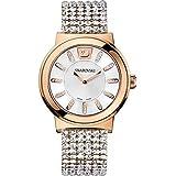 سواروفسكي ساعة رسمية للنساء انالوج بعقارب ستانلس ستيل - 1124137