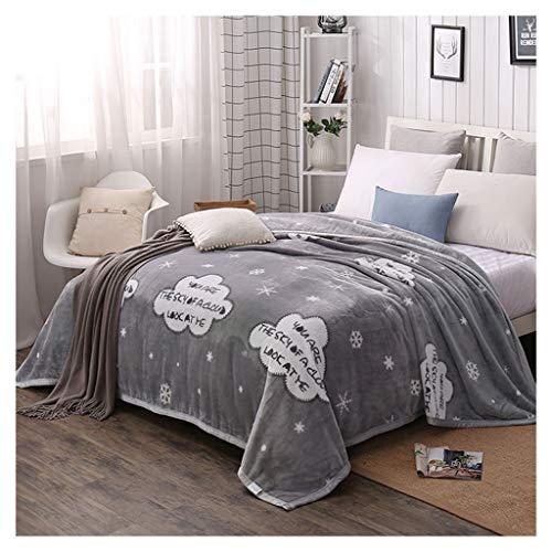 260a7bdd278e0 Couvertures Flanelle Doux Fluffy Cosy Flocon De Neige Motif Nap Canapé  Couvertures (Couleur   Gray