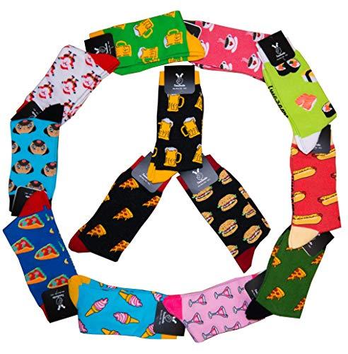 Socken - Unisex Mann Frau trendy/Größe 36 - 46 / Strümpfe Socks Socke Strumpf Hipster Malerei Painting lustig bunt witzig (Pizza + Burger + Bier + Cocktail + Kaffee + Eis + Hund + Weihnachtsmann)