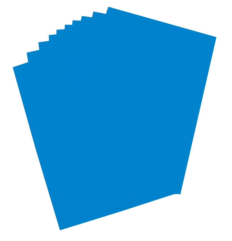 Folia 65312 - cartulina, 48 x 68 cm, 10 hojas, azul capri