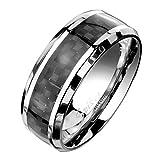 beyoutifulthings funkelnder SCHACHBRETT-MUSTER Band-Ring Chirurgenstahl 316L Verlobungs-Ring Partner-Ring Trau-Ring Silber 47(15)-72(23)