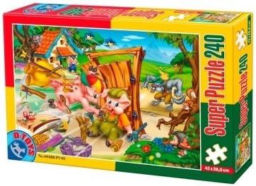 D-Toys - Super Jigsaw Puzzle 240 - Fairytales 5 (DT60488-PV-05) | La Fabrication Habile