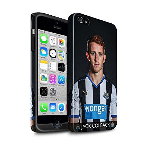 Offiziell Newcastle United FC Hülle / Glanz Harten Stoßfest Case für Apple iPhone 4/4S / Pack 25pcs Muster / NUFC Fussballspieler 15/16 Kollektion Colback