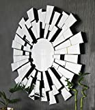 Large Round Modern Starburst Venetian Mirror 2ft11