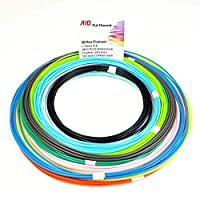 AIO Robotics Premium PLA 3D Pen/Printer Filament, 16 colors, 10 foot per color, Dimensional Accuracy +/- 0.02 mm, 1.75 mm