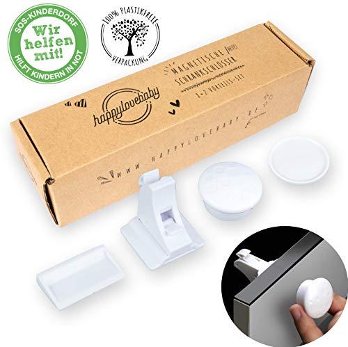 happylovebaby 8+2 Set Vorteilspack Premium Magnetisches Schrankschloss unsichtbare Kindersicherung zum Kleben für Schrank Kommode und Schulbaden Sicherheitsschloss Baby -