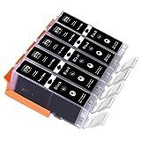 5lampada. XL Nero Cartucce d' inchiostro per stampante Canon PGI-570bk XL per Canon Pixma MG 570057505751575257536800685068516852685377007750775177527753