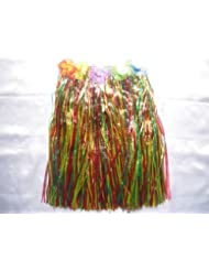 Multicolore Herbe Jupe pour Hawaii Beach Party enterrement 55 cm