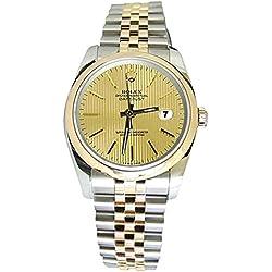 Two tone jubilee bracelet rolex date just watch stick dial man